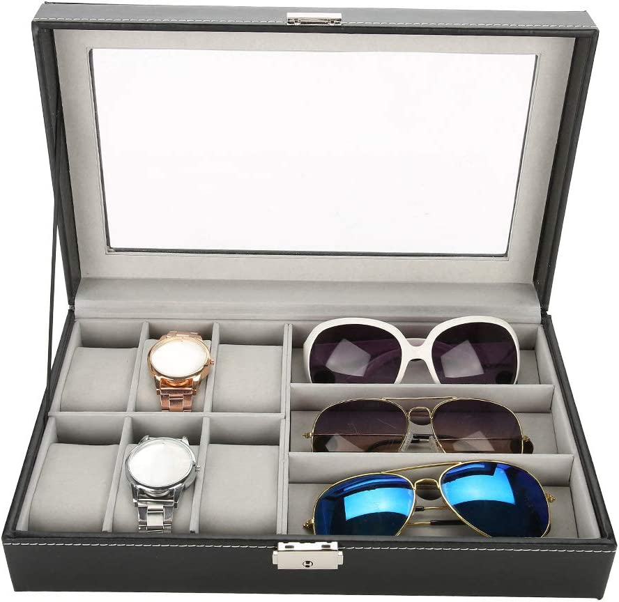 Excellent Watch Glasses Storage Box lowest price 6 Slot and 3 S Case Jewelry
