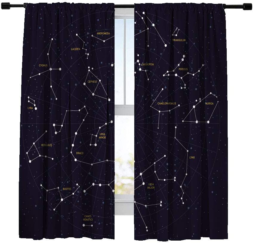 Miblor Blackout Curtains for Bedroom Living Kitchen 中古 Ma 限定タイムセール Room Sky