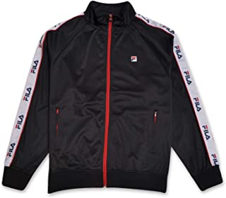 Fila Mens Big and Tall Track Jacket with Logo Taping Down Arms