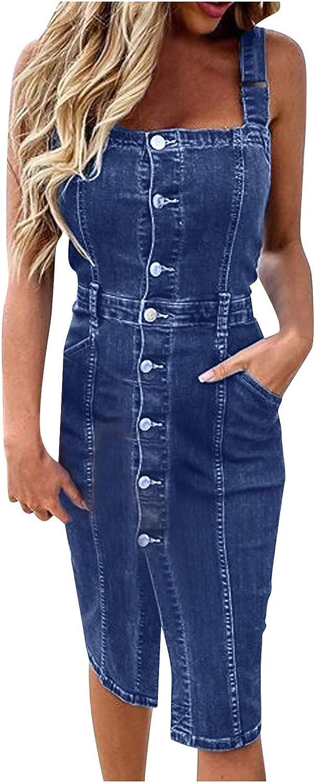 Womens Denim Dress Plus Size Po Down OFFicial site with Button Dresses specialty shop