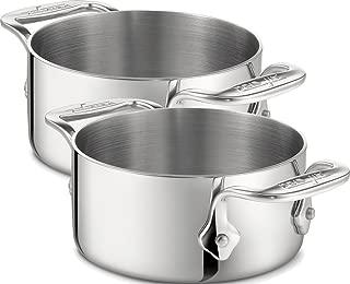 All-Clad 59914 Stainless Steel Dishwasher Safe 0.5-Quart Soup / Souffle Ramekins Cookware Set, 2-Piece, Silver