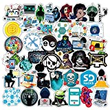 BLOUR 50 Unids/Set Hackers Graffiti Pegatinas Geek Java Programación Pegatinas para Equipaje Portátil Motocicleta Patineta Bicicleta Calcomanía Juguete F5