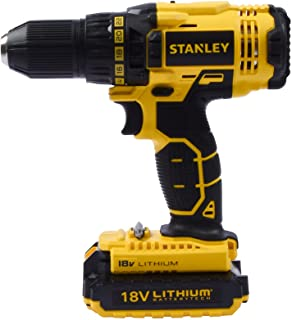 Stanley Power Tool,Cordless 18V 1.5Ah Li-Ion Drill Driver Kit Box,SCD20S2K-B5