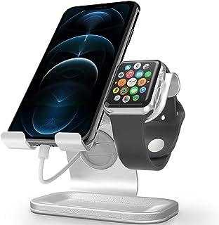 حامل ساعة Apple Watch Stand, ZVEdeng للهاتف الخلوي وساعة Apple ، محطة شحن ساعة Apple ، حامل عالمي لـ iPhone 11 Pro Max/11/...