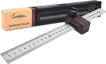 Streichmaß Anschlaglineal, Suzzam Anreisslineal EG-1 30mm Streichmaß mit Anschlag aus Holz Linealanschlag Anreisswerkzeug