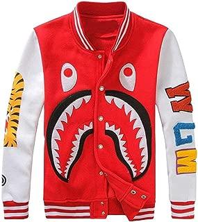 Sharks Head Varsity Baseball Bomber Sweatshirts Jackets