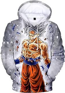 Bettydom Teen's Fashion Hoodies Japanese Anime Pullover Sweatshirt with Dragon Ball for Boys Girls