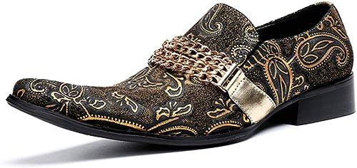 chaussures Chaussures en Cuir Chelsea Bar Robe Chanteur de Rock Occidental Décontracté pour discothèque, Affaires, Mariage, Occasionnel, Bureau, Parti, Taille 37 à 46,EU41