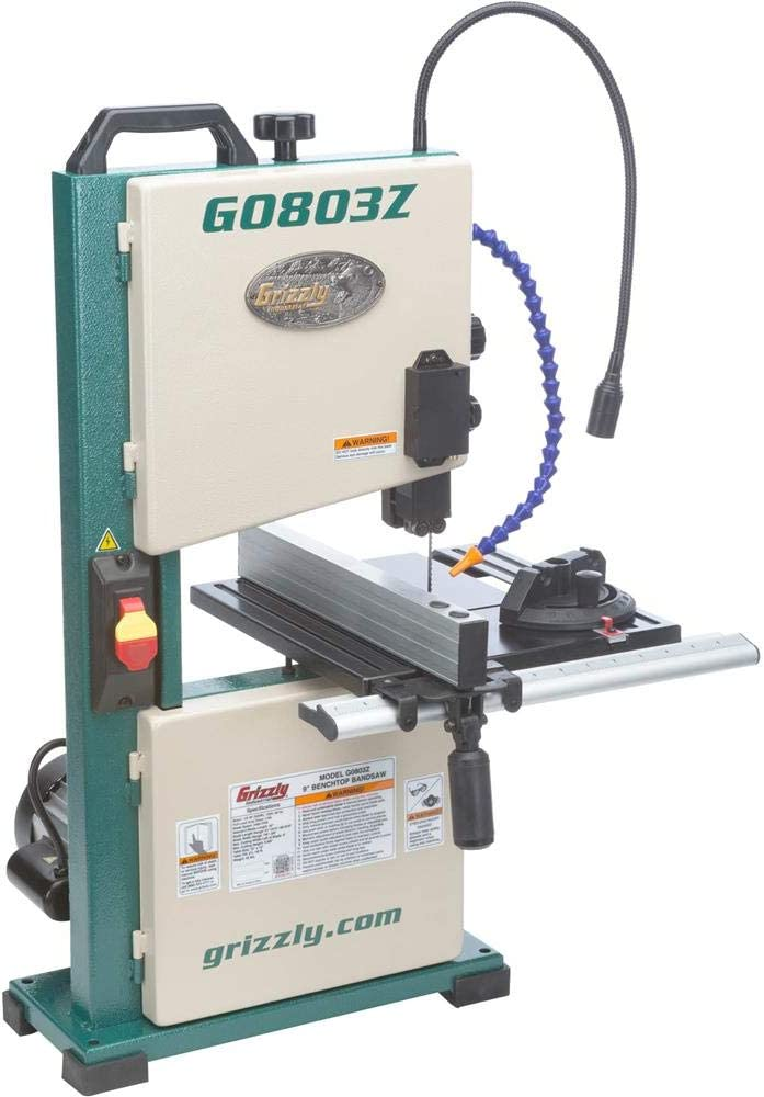 Grizzly Industrial G0803Z Benchtop Bandsaw with Laser Guide