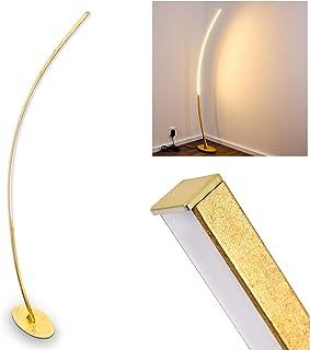 Lampadaire design LED extravagant - Lampe d'intérieur incurvée avec interrupteur au pied - Lampadaire semi-circulaire - LE...