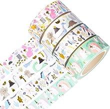 Yubbaex Gold Washi Tape IG Style Silver Foil Masking Tape Set Decorative for Arts, DIY Crafts, Bullet Journal Supplies, Pl...