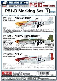 Zoukei-Mura ZKMSWS004-D01 1:32 Decals - P-51D Mustang Part 1 [Decal Sheet]