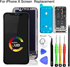 Screen Replacement for iPhone X OLED [NOT LCD] Display Touch Screen Digitizer Assembly with Repair Tools (5.8 inch)