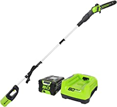 """Greenworks PRO 80V 10"""" Brushless Cordless Polesaw, 2.0Ah Battery and Charger Included PS80L210"""