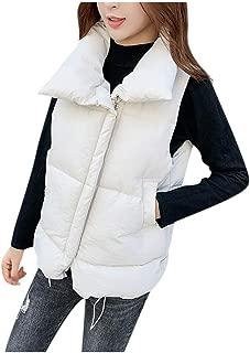 CrazyloverⓇ Women's Packable Vest Plus-Size Ultra-Light Down Packable Vest Full-Zip Polar Fleece Vest Packable Down Jacket