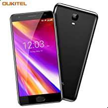 Điện thoại di động Android – OUKITEL OK6000 Plus Unlocked Cell Phones, 5.5″ FHD 6080mAh Big Battery Unlocked Smartphones, 4GB RAM+64GB ROM Dual SIM Android 7.0 Octa Core Unlocked Phones Fingerprint – Black (Black3)