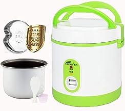 Rijstkoker (1.2L-200W) Huishoudelijke Mini Rijstkoker, automatische warmtebehoud, met stoombak, spatel en maatbeker, voor ...