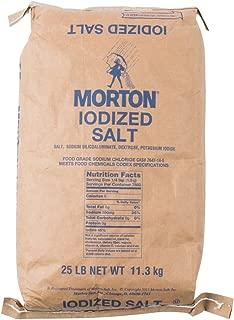 Morton Iodized Table Salt, 25 Pound