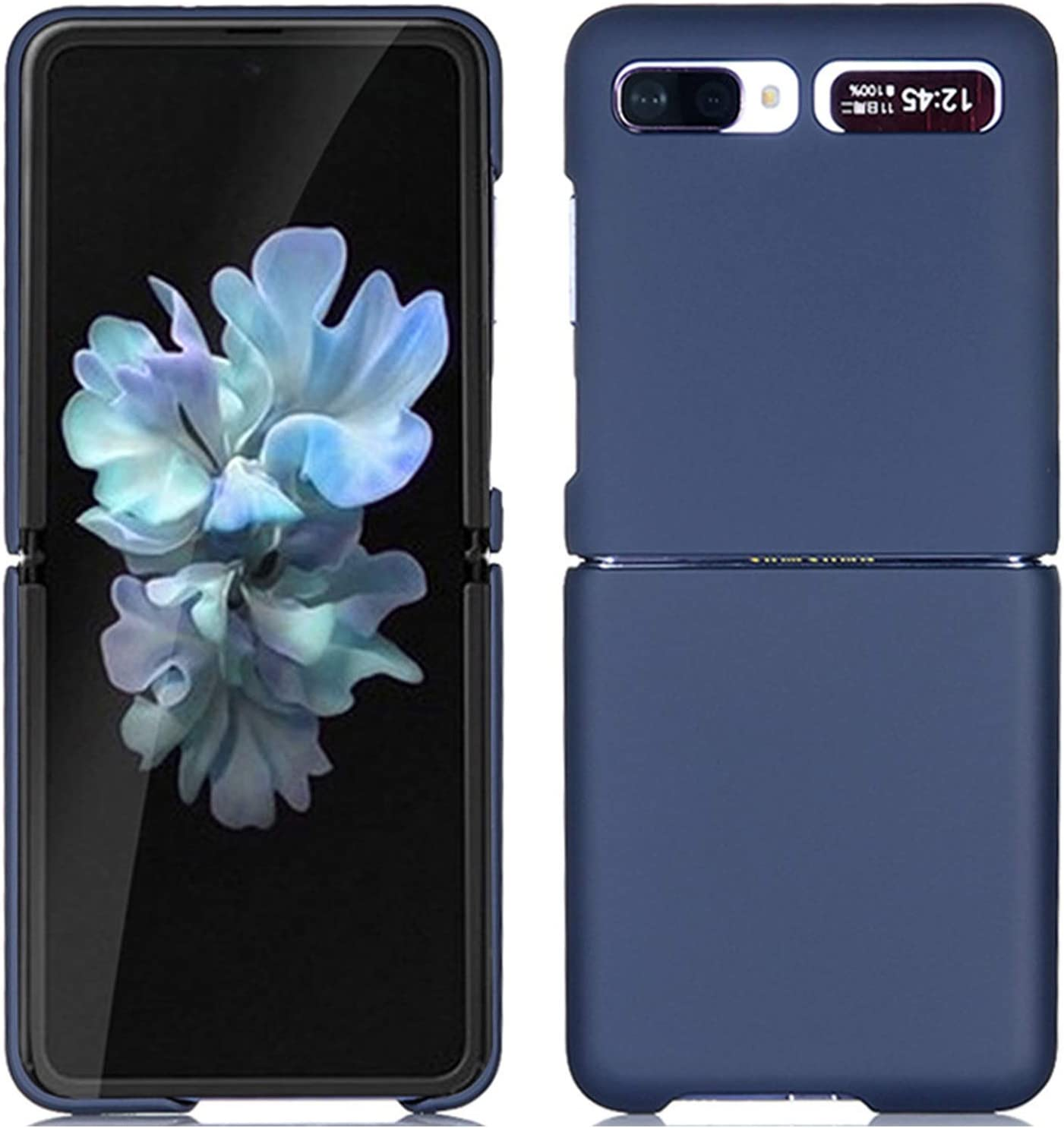 Miimall Compatible Samsung Galaxy Z Flip Case PC Hard Precise Ultra Thin Slim Bumper Anti-Scratch Shock-Proof Protector Case Cover Accessories for Galaxy Z Flip(Dark Blue)