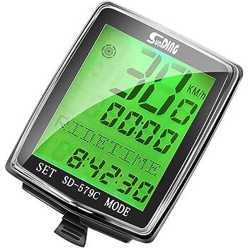 Boblov Computadora de Bicicleta, Ciclocomputador Bicicleta Inalámbrico Impermeable LCD Pantalla Velocímetro de Bicicleta con 27 Funciones para Ciclismo Realtime Speed Track y Distancia