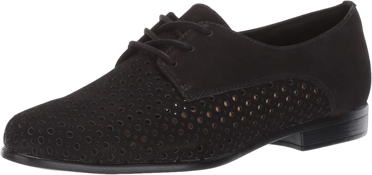Trotters Women's Ranking integrated 1st place Lizzie PERF Oxford All stores are sold Nubuck M US 12.0 Black