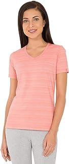 Jockey AW10-0103 Women's Athleisure T-Shirt, X-Large, Peach Blossom