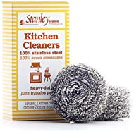 Stanley Home Products Stainless Steel Kitchen Scouring Cleaners (2 Cleaners Included)