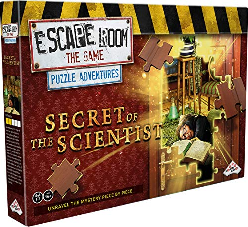 Escape Room The Game, Puzzle Adventures: Secret of The Scientist Jigsaw Puzzle & Escape Room Board...