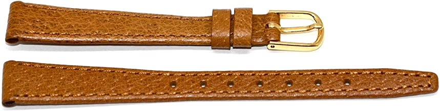 13MM Stitched Thin Soft Pigskin Strap Watch Band