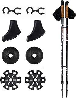 Bastones de senderismo 2 piezas/set – ligero plegable ajustable de aluminio telescópico bastón de senderismo bastón de sen...