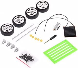Ktyssp 1 Set Mini Solar Powered Toy DIY Car Kit Children Educational Gadget Hobby Funny