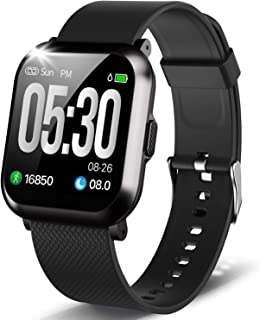 Proyoo Fitness Tracker, Health & Fitness Watch with Blood Pressure Heart Rate Monitor for Men Women,Waterproof Smart Watch with Sleep Tracking for iPhone Android Phones