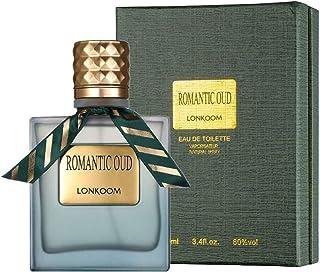 LONKOOM Perfume EDT Leather Aroma Eau De Toilette Green Oud Perfumes Anti-bacterial Spray Fragrance For Men 100ml