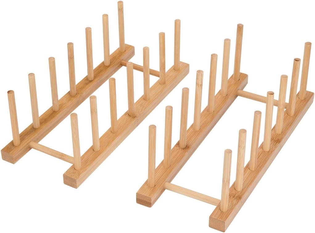 Bamboo Dish Rack Max 57% Price reduction OFF Tompig 2Pack Drying 6 Slots Cutting