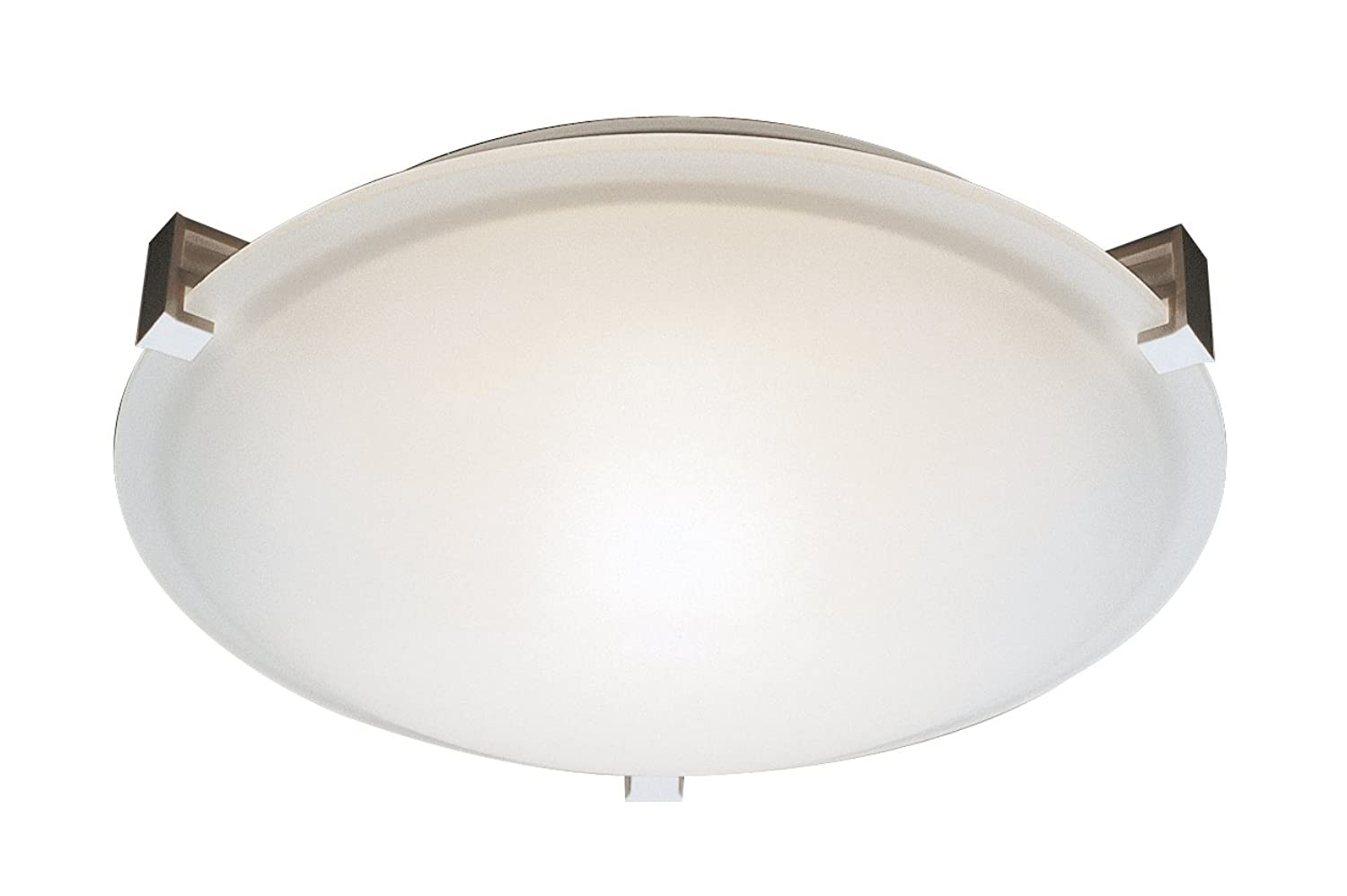 Trans Globe Lighting Frosted Clipped Flush Mount, 12, Brushed Nickel by Trans Globe Lighting