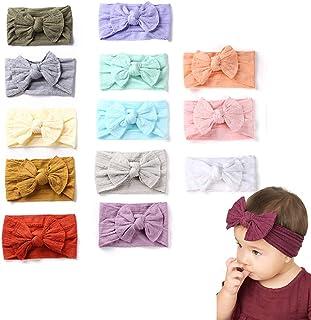 Sweet Lemo'' 2020 New Upgrade'' 6 PCS Baby Girl Nylon Headbands Newborn Infant Toddler Hairbands and Bows Child Hair Acces...