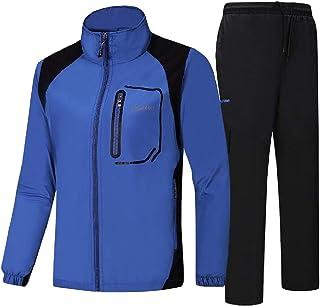 YULEgowinner Mens 2PCS Suit Pullover Sweatshirt Sweat Casual Sport Tracksuit Set