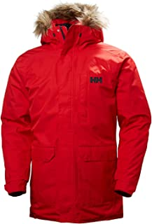 Helly Hansen Men's Dubliner Parka 100 Gram Primaloft Insulated Waterproof Windproof Breathable Rain Coat with Hood, 110 Flag Red, 5X-Large