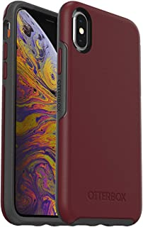 OtterBox SYMMETRY SERIES Case for iPhone Xs & iPhone X - Retail Packaging - FINE PORT (CORDOVAN/SLATE GREY)
