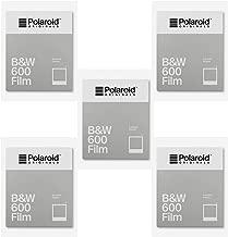 Polaroid Originals B&W 600 Instant Camera Film (8 Exposures) 5-Pack