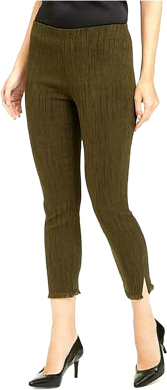 Alfani Womens Green Fringed Pants Size 16P