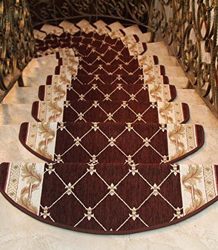 Scale Tappetino Pad 5 Pezzi ,Stair Tappetini Stuoie Antiscivolo Autoadesivo Colla Continentale Gratuita Scala Mat ( Colore : B , dimensioni : 64*24cm/5 )