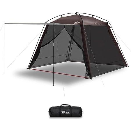 FIELDOOR スクリーンテント メッシュスクリーン シェード 虫除け 蚊帳 キャンプ バーベキュー