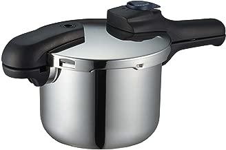 パール金属 圧力鍋 3.5L IH対応 3層底 切り替え式 レシピ付 クイックエコ H-5040