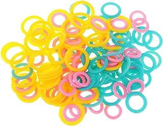 約120ピース 目数リング 編み物用品 DIY プラスチック製