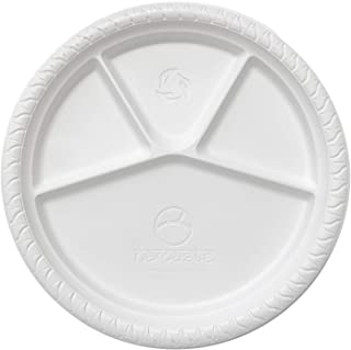 Namaste 100 Party Dinner Plates,12.5 inch Platter Size, Eco-friendly Compostable Microwave Safe Biodegradable, Heavy Duty