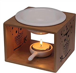 Singeek 100ML Ceramic Tea Light Holder,Essential Oil Burner Candle Aroma Diffuser for Spa Yoga Meditation