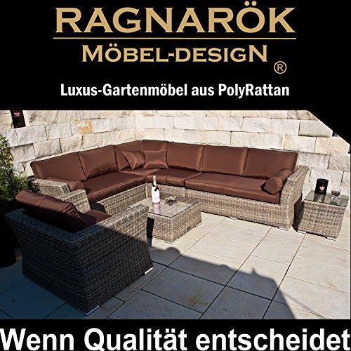 Ragnarök-Möbeldesign Lounge Gartenmöbel Set- 7 Jahre Garantie
