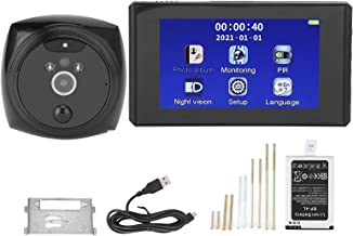 Campainha de vídeo, câmera de visor de porta inteligente Hd Lcd e detecção de movimento com visão noturna com câmera de 2M...