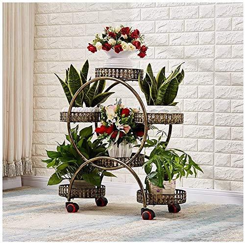 Soporte flores , Rack de flores multifunción Piso de múltiples pisos de múltiples pisos de interior Pottín de la olla de la olla de la casa del estante de la olla de hierro forjado Soporte de flores d